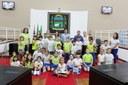 Alunos da Escola Criança & Companhia visitam Câmara de Vereadores de Pindamonhangaba