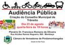 Câmara realiza Audiência Pública para criação do Conselho Municipal de Trânsito