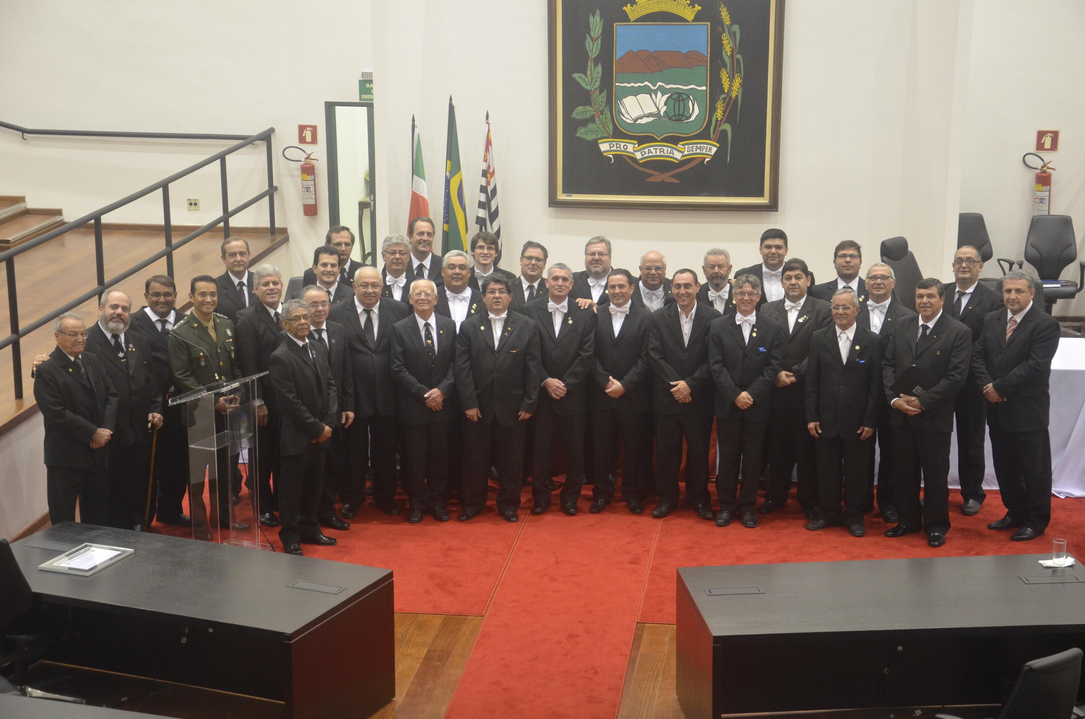 Dia do Maçom é comemorado na Câmara de Vereadores de Pindamonhangaba