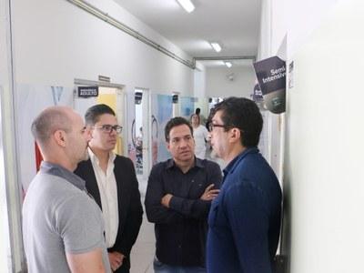 Vereadores Magrão, Professor Osvaldo e Roderley Miotto fiscalizam Pronto Socorro e visitam obras do PS Infantil